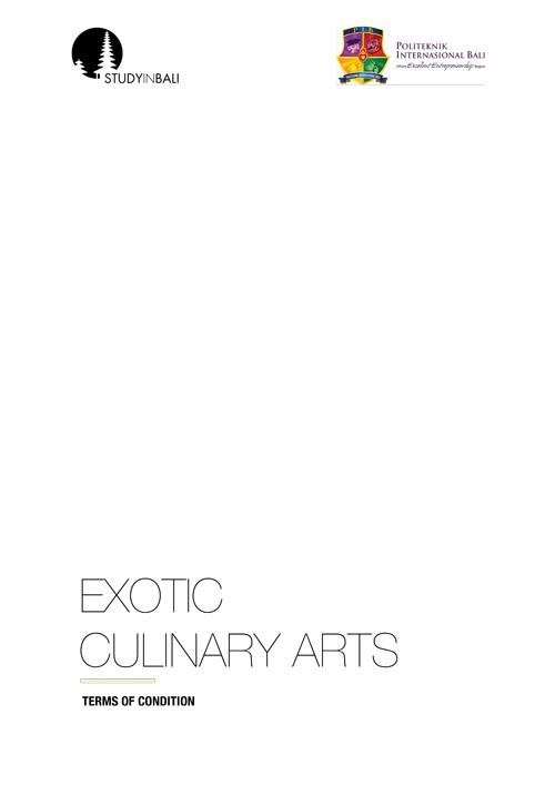 SIB Culinary Arts TOC 02 - Short Course I Exotic Culinary Arts