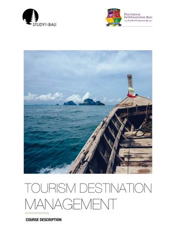 SIB Tourism Development Management 07 - Tourism Destination Management